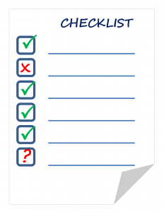 checklist for moving